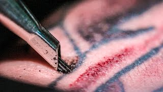 TATTOOING Close Up (in Slow Motion) Smarter Every Day