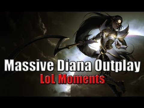 LoL Moments 神一般的黛安娜操作 - 英雄爆笑聯盟