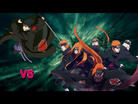Sasuke vs Pain - Sprite battle