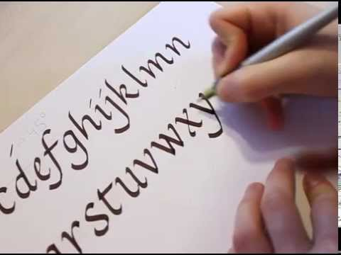 How To Write Calligraphy Youtube