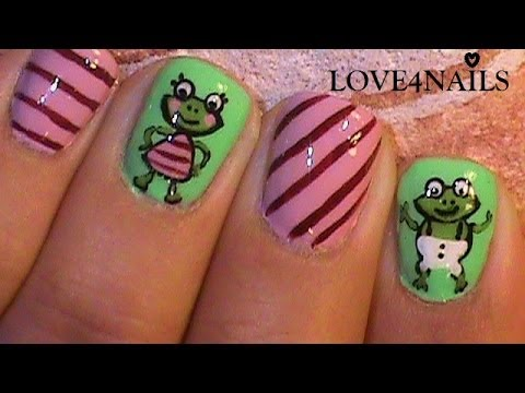 Comical Nails ~ How to paint Frogs