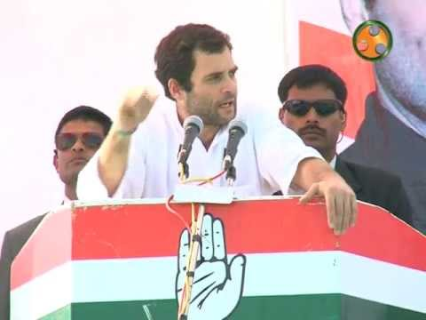 Shri Rahul Gandhi addressing an election Rally at bhilora (Gujarat)