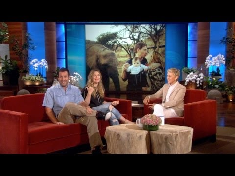 Adam Sandler and Drew Barrymore Talk 'Blended' Animals