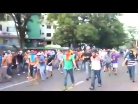 Gochos in Venezuela force GNB Violence to its knees