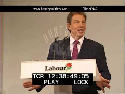 Tony Blair talks about Education, Education, Education, 1997.  Film 90949