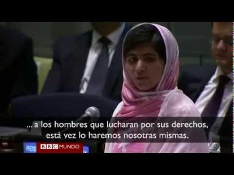 Discurso de Malala Yousafzai en la ONU Sub  en español