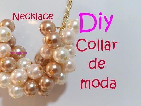 Diy. Necklace Collar de moda