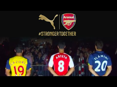 Cazorla, Arteta & Flamini Surprise Fans at PUMA Arsenal Kit Launch Celebration