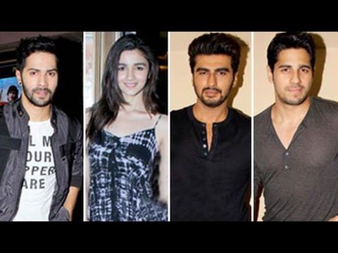 Humpty Sharma Ki Dulhania SPECIAL SCREENING -- Shraddha Kapoor, Arjun Kapoor, Siddharth ATTEND
