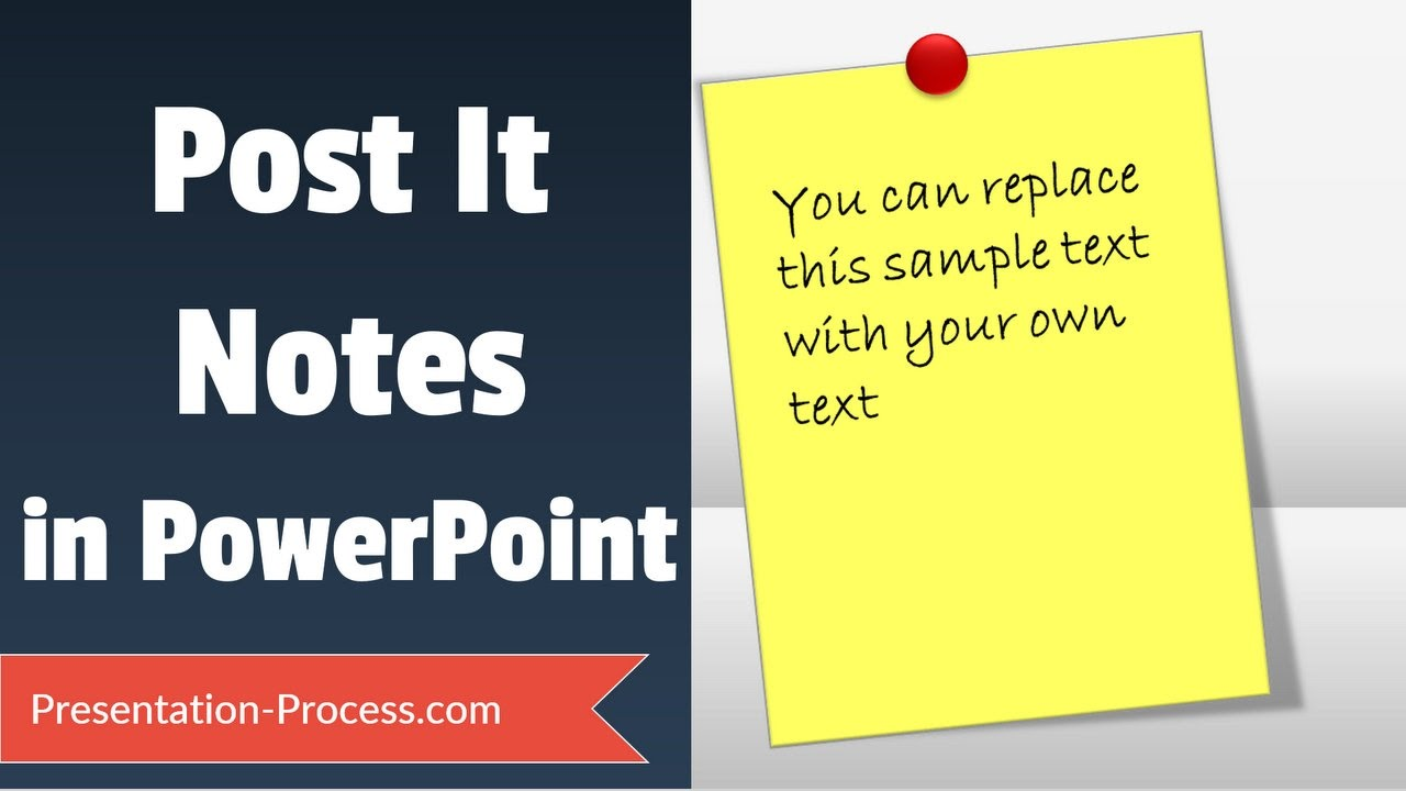 how to create sticky note   powerpoint tutorial series