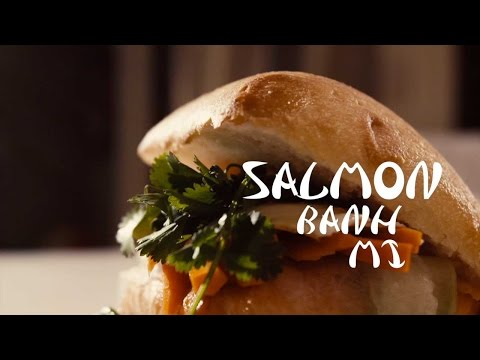 Stacked Video: The Summer Salmon Banh Mi | Food & Wine
