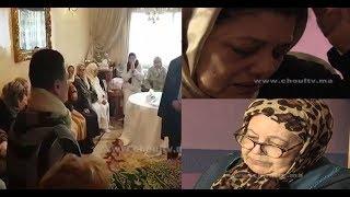 بالفيديو..بكاء و حزن لحظات قبل تشييع جثمان الممثلة المغربية مامي..شوفو أشنو وقع قبل دفن جثمانها  