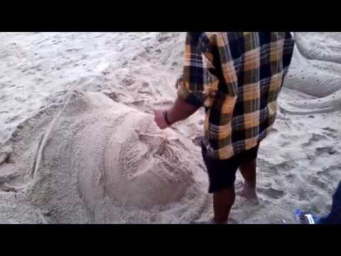 Live Sand Art Creation at Puri Sea Beach Video