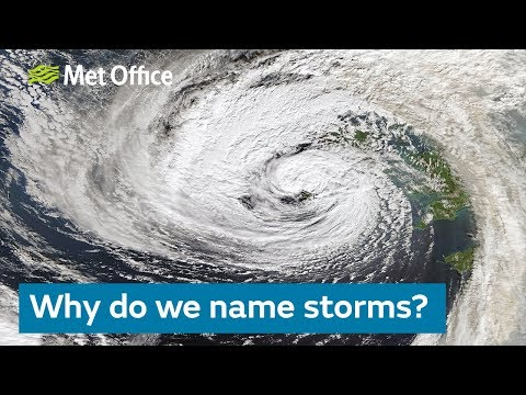 Why do we name storms?