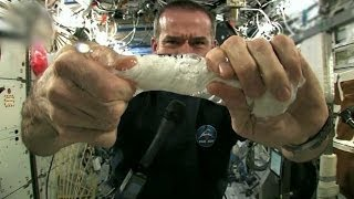 Wet Washcloth in Space | Outrageous Acts of Science