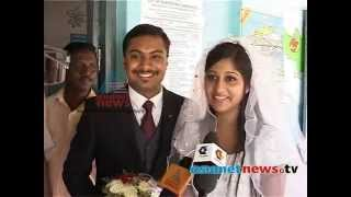 Couple exercise their duty as citizens on wedding day