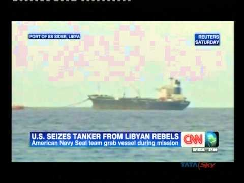 U.S. forces seize North Korea oil tanker