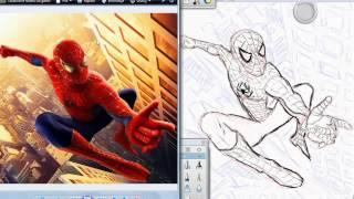 Speed Drawing Spider-Man