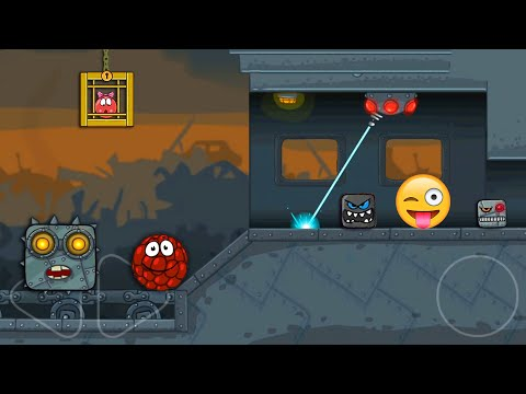 """RED BALL 4 - Raspberry Ball """"FUNNY SUPERSPEED"""" Gameplay in Box Factory with Boss Fight"""