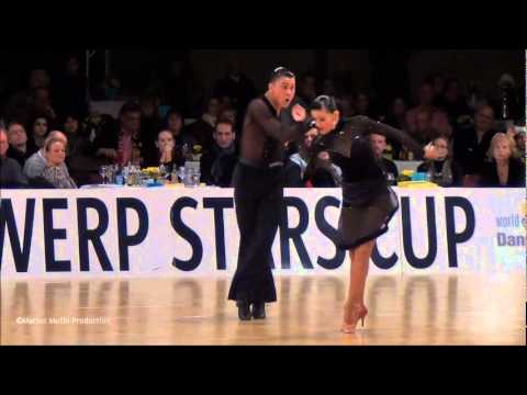 12th Antwerp Stars Cup - GrandSlam Latin - solo Samba - Andrey Gusev &amp; Elizaveta Cherevichnaya