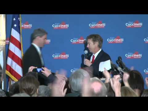 Rand Paul campaigns for Ken Cuccinelli
