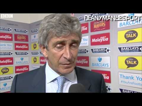 Cardiff 3-2 Manchester City - Manuel Pellegrini Post Match Interview