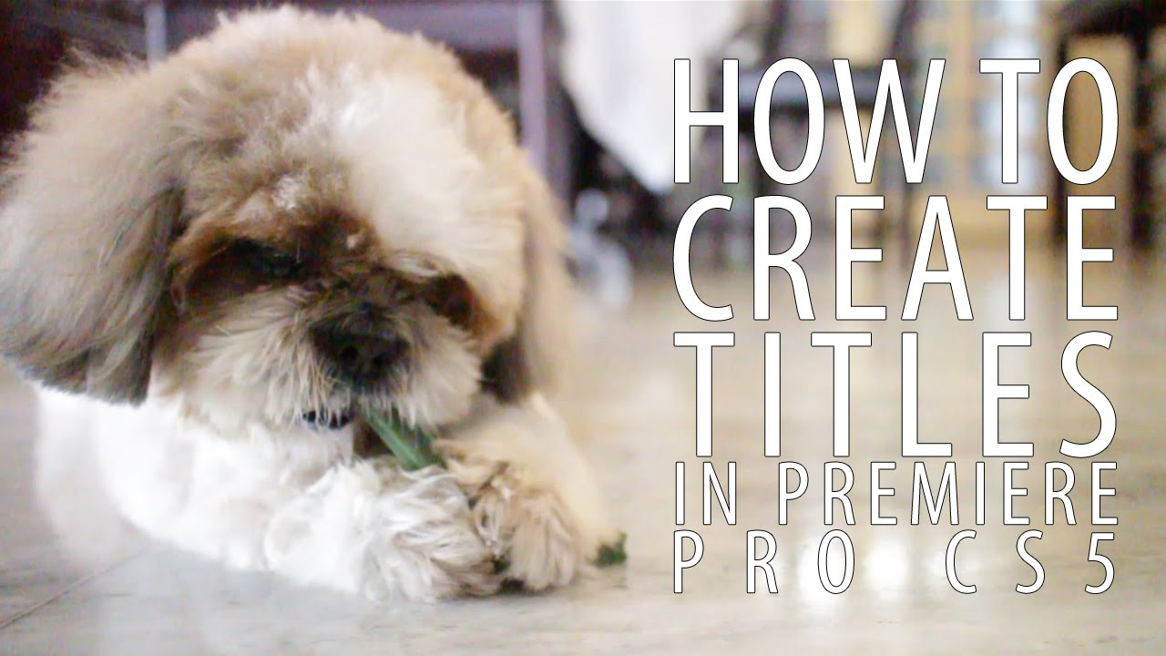 how to create titles premiere pro