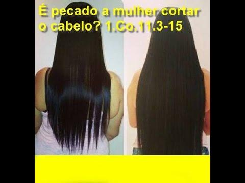 é pecado a mulher cortar o cabelo?