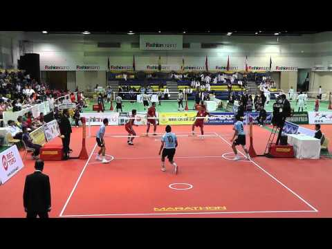 Sepak Takraw King's Cup 2012 - Thailand vs. Malaysia - 2nd regu (Team Event)