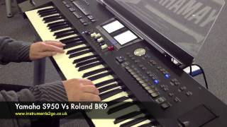 Yamaha S950 vs Roland BK9 Keyboard Demo