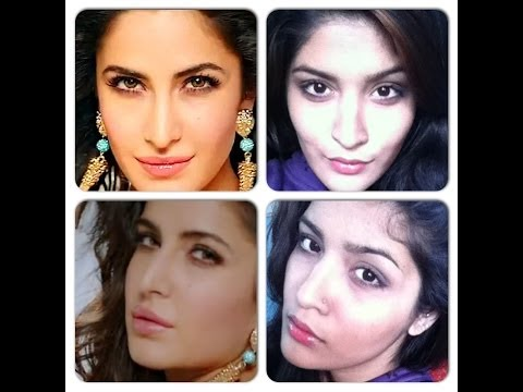 Katrina Kaif Dhoom 3 inspired makeup look-soft plum smokey eye and nude pink lips