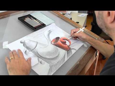 Paulo Lara - Desenho Lápis - Grafite e Cor - Time Lapse