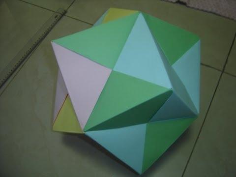 How to Make a Giant Origami Dodecahedron \O/ (Como Fazer um Dodecaedro gigante de Origami)