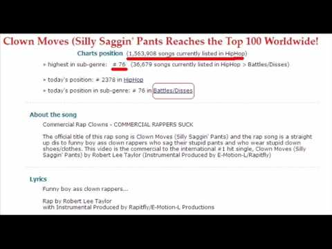 Stop Saggin' Your Pants - Robert Lee Taylor Top 100 on Worldwide Rap Charts