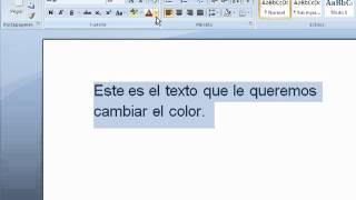 Como Cambiar El Color Del Texto Y Del Fondo De Linea Word