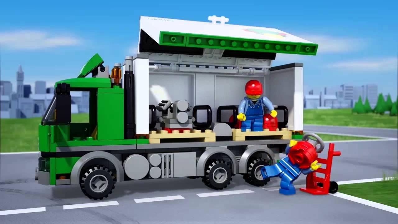 lego174 city cargo truck 60020 youtube