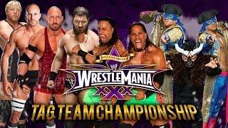 WWE Wrestlemania 30 The Usos Vs Rybaxel Vs Los Matadores