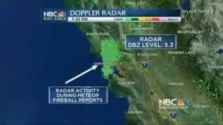 Fire In The Sky : Meteor Streaks Across San Francisco Bay