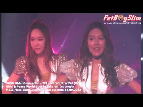 SNSD GIRLS' GENERATION - TELL ME YOUR WISH live in Jakarta, Indonesia 2013