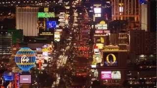 Las Vegas De Noche A Vista De Pájaro HD