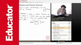 """Dilution & Osmotic Pressure"" 