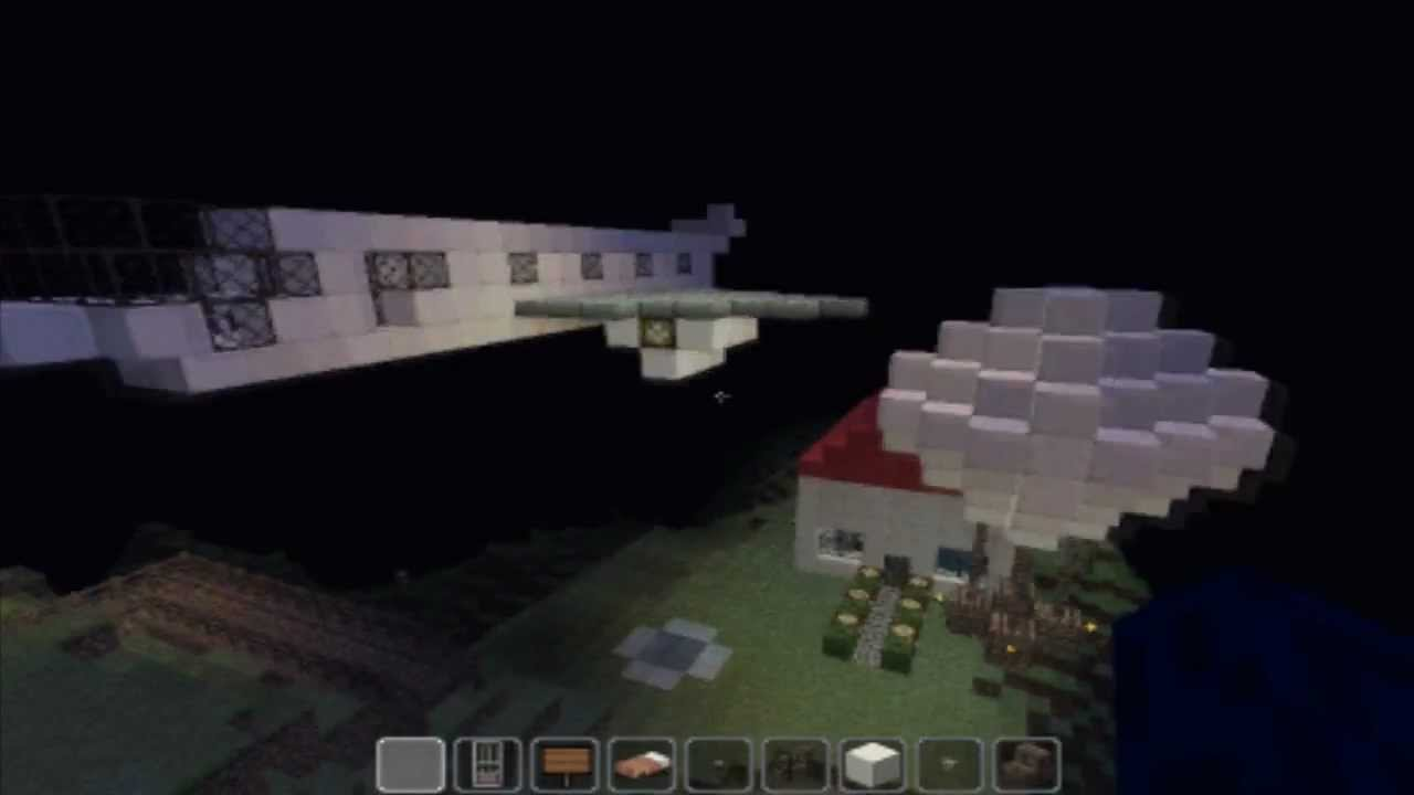 how to build a private jet in minecraft