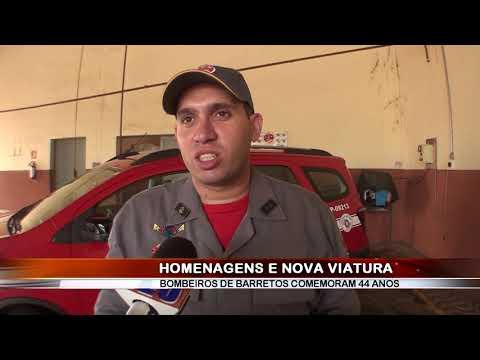 01/03/2019 - Posto de Bombeiros de Barretos comemora 44 anos, com homenagens e recebe nova viatura