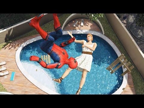 GTA 5 Crazy Ragdolls | Spider-Man Jumps/ Fails ep.58 (Funny Moments)