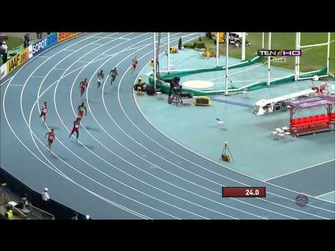 IAAF Moscow 2013 Mens 400m Final LaShawn MERRITT Wins