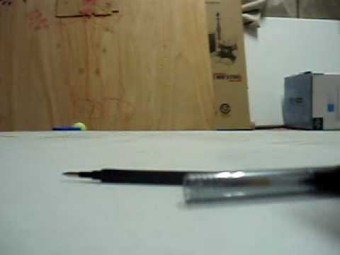how to make a spitball shooter out of a pen