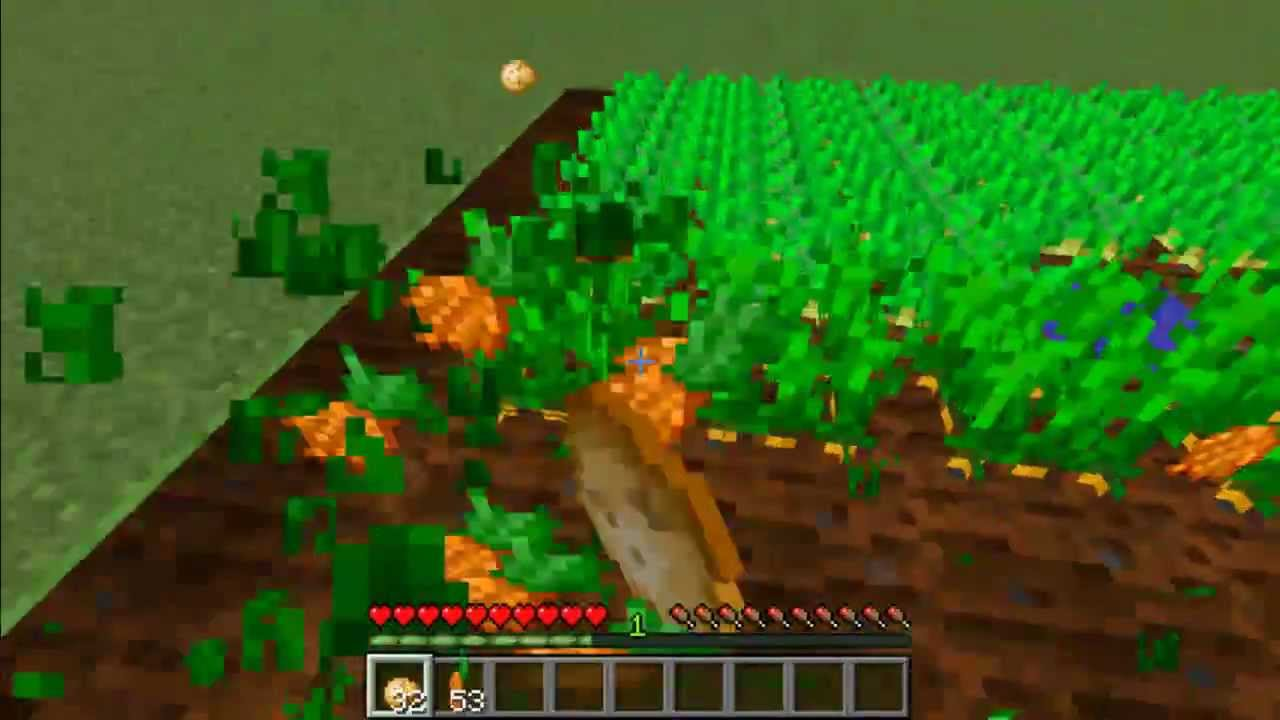Minecraft: How To Farm Carrots And Potatoes - YouTube