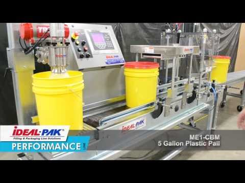 Ideal-Pak ME1-CBM plus ME1-CBM DFS Liquid Filling Machine Demo