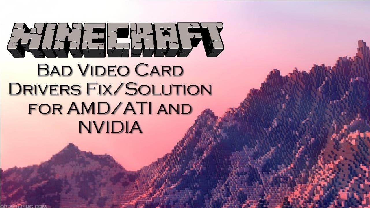 how to fix minecraft graphics card error