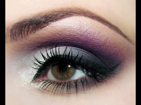 "HOW TO: SOFT SMOKEY PURPLE GREY EYESHADOW (ROMANTIC) TUTORIAL, HOW TO: SOFT SMOKY PURPLE GREY EYESHADOW (ROMANTIC) This is an ""inspired look"" and showing that the same colours, techniques etc... can look one way on one e..."